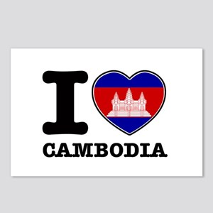 I heart Cambodia Postcards (Package of 8)