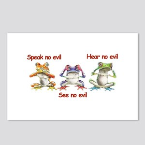 Three Frogs Postcards (Package of 8)