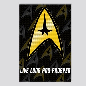 Star Trek Insignia (large) Postcards (Package of 8