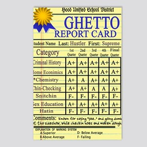 Ghetto Report Card -- T-S Postcards (Package of 8)