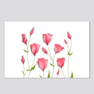 Pretty Flowers Postcards (Package of 8)