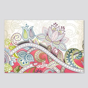 Abstract Floral Postcards (Package of 8)