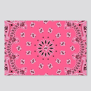 Pink Bandana Postcards (Package of 8)
