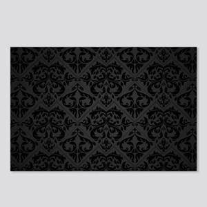 Elegant Black Postcards (Package of 8)
