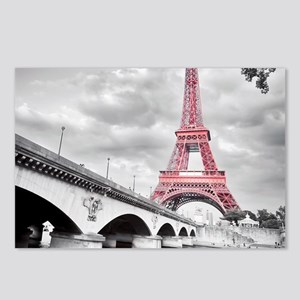 Pink Eiffel Tower Postcards (Package of 8)