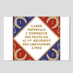 Napoleon's Guard flag Postcards (Package of 8)