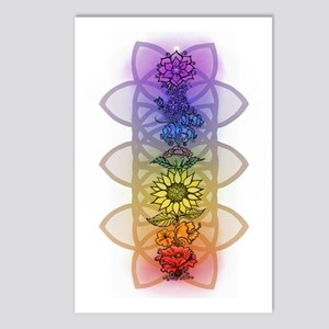 Chakra Flowers Postcards (Package of 8)