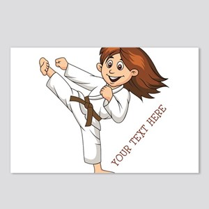 PERSONALIZED KARATE GIRL Postcards (Package of 8)