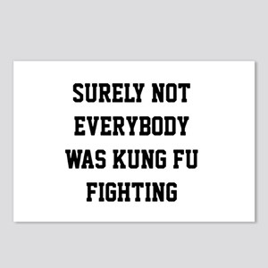 Surely not everybody was kung fu fighting Postcard