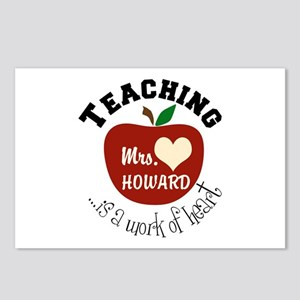 Personalize teaching: work of heart Postcards (Pac