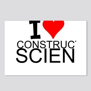 I Love Construction Science Postcards (Package of