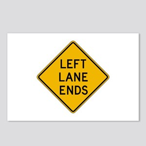 Left Lane Ends - USA Postcards (Package of 8)