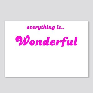 EVERYTHING IS WONDERFUL Postcards (Package of 8)