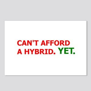 """Can't Afford A Hybrid"" Postcards (Package of 8)"