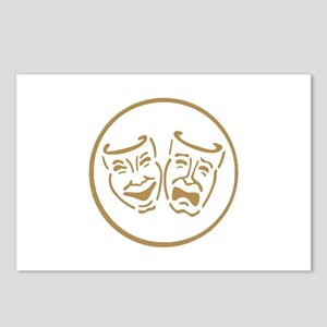 Drama Masks Postcards (Package of 8)