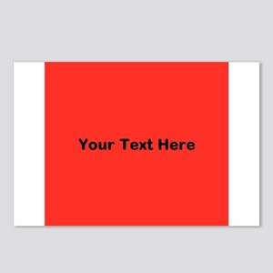 Red Background with Text. Postcards (Package of 8)