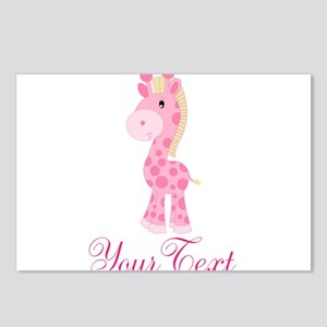 Personalizable Pink Giraffe Postcards (Package of