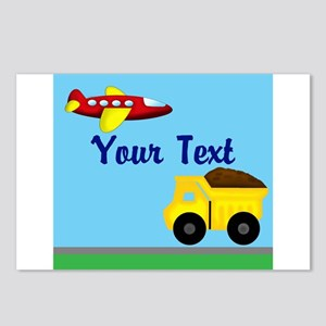 Trucks and Planes Postcards (Package of 8)