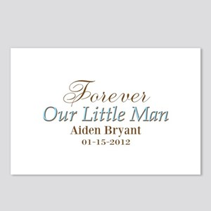 Blue Brown Personalizable Little Man Postcards (Pa