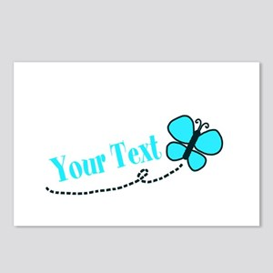 Personalizable Teal and Black Butterfly Postcards
