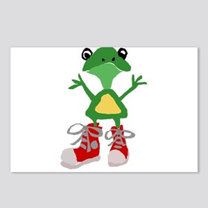 Frog in Red Sneakers Postcards (Package of 8)