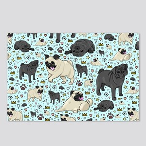 Pugs Postcards (Package of 8)