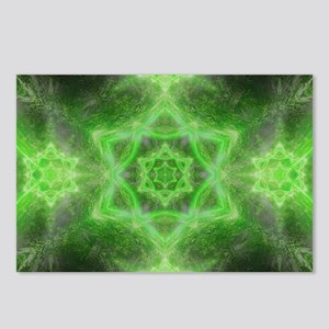 Emerald Star Mandala Postcards (Package of 8)