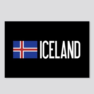 Iceland: Icelandic Flag & Postcards (Package of 8)