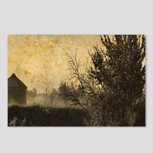rustic Rural farm landsca Postcards (Package of 8)