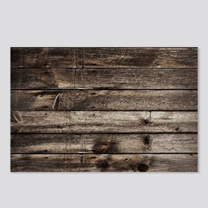 rustic primitive grey bar Postcards (Package of 8)
