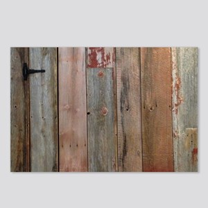 rustic western barn wood Postcards (Package of 8)