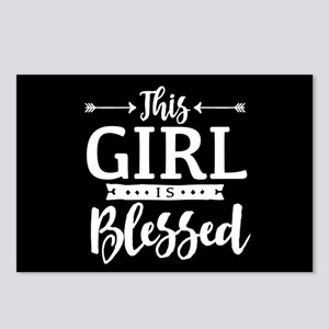 Girl is Blessed Postcards (Package of 8)