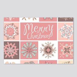 Merry Christmas in Pastel Postcards (Package of 8)