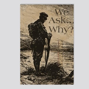 We ask why, sympathy Postcards (Package of 8)