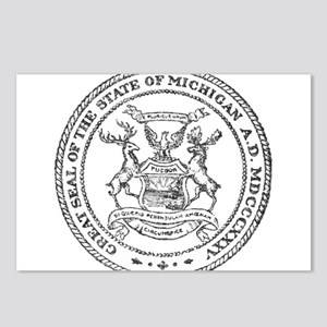 Vintage Michigan State Seal Postcards (Package of