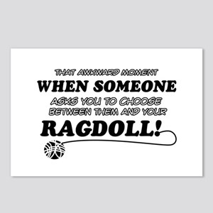 Funny Ragdoll designs Postcards (Package of 8)