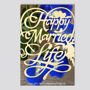 HAPPY MARRIED LIFE  Postcards (Package of 8)