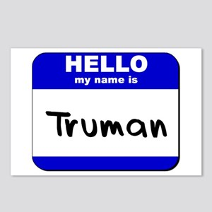 hello my name is truman  Postcards (Package of 8)