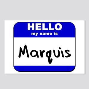 hello my name is marquis  Postcards (Package of 8)