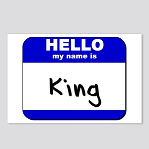 hello my name is king  Postcards (Package of 8)
