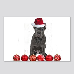 Christmas Cane Corso Pupp Postcards (Package of 8)
