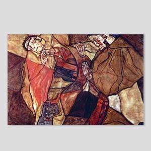 Egon Schiele Agony The De Postcards (Package of 8)