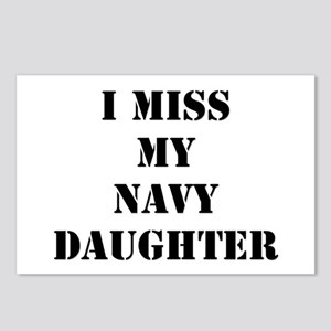 I Miss My Navy Daughter Postcards (Package of 8)