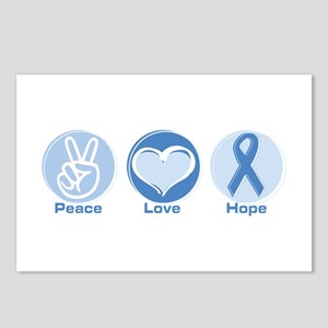 Peace LtBl Hope Postcards (Package of 8)