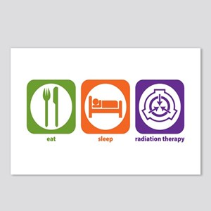 Eat Sleep Radiation Therapy Postcards (Package of