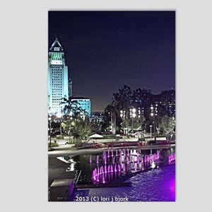View of Grand Park at nig Postcards (Package of 8)