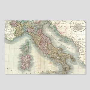 Vintage Map of Italy (179 Postcards (Package of 8)