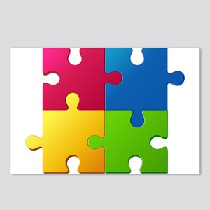 Autism Awareness Puzzle Postcards (Package of 8)
