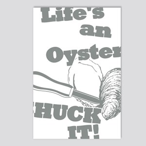 Lifes an Oyster, Shuck it Postcards (Package of 8)
