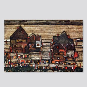Egon Schiele Houses with  Postcards (Package of 8)